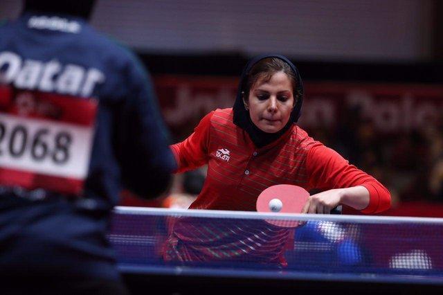 ندا شهسواری پرچمدار کاروان ایران در اختتامیه بازیهای آسیایی
