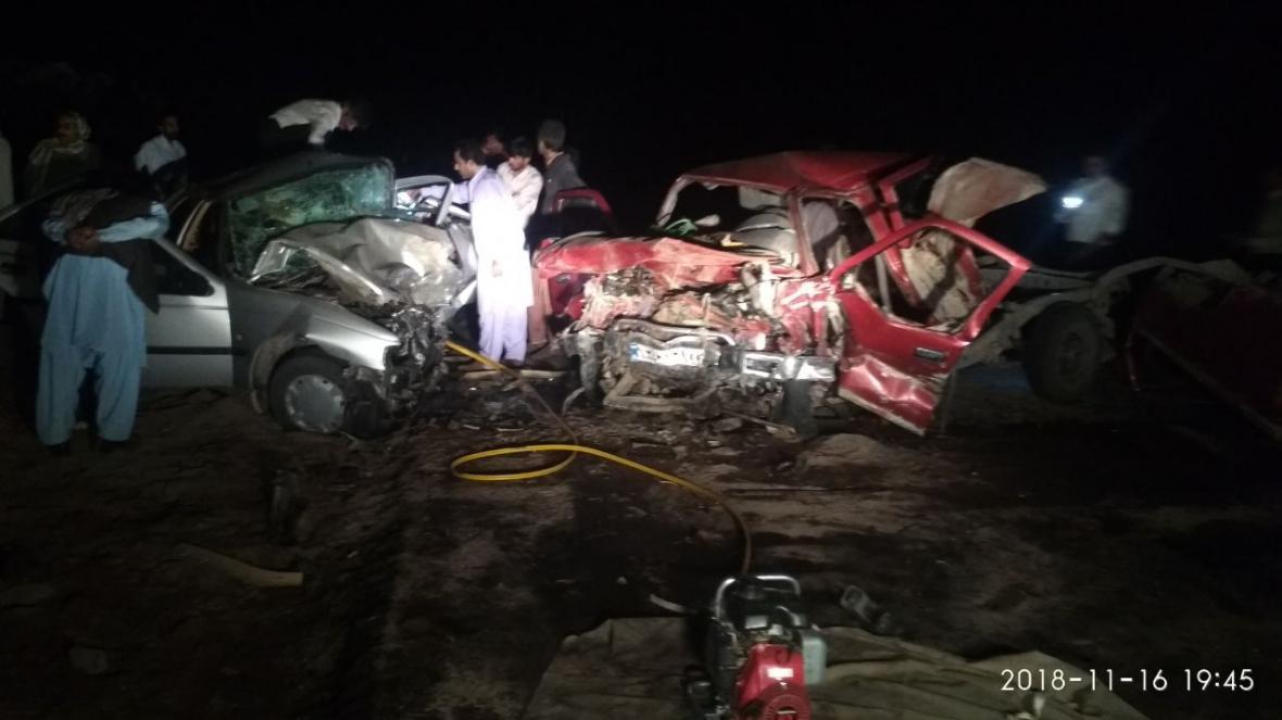 تصادف زنجیره ای در ریگان با 10 کشته و مجروح